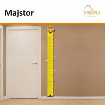 Naljepnica za mjerenje visine -Majstor zalijepljena na zid pokraj vrata