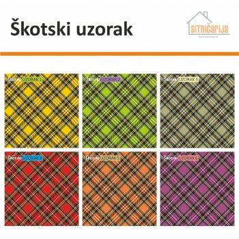 Naljepnice za utičnice i prekidače - Škotski uzorak; set od 6 naljepnica škotskog uzorka u 6 boja