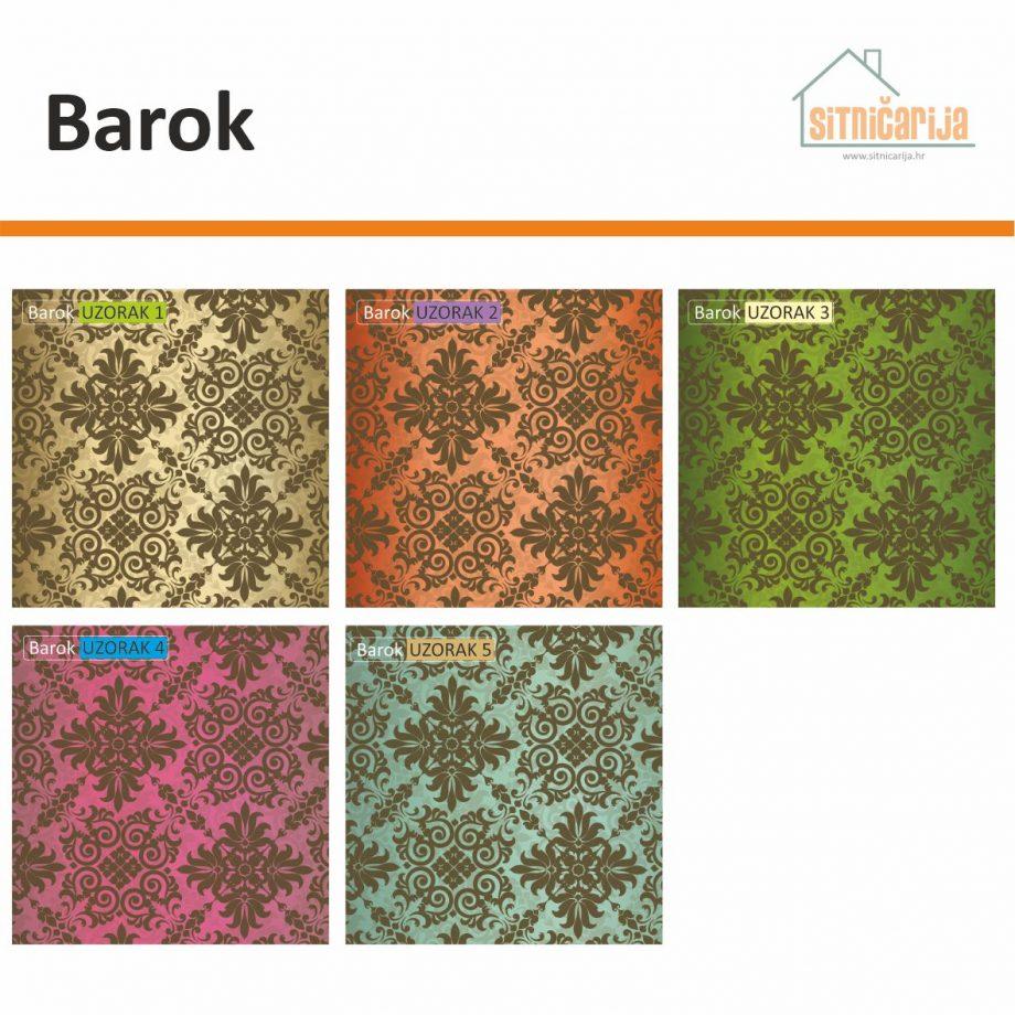 Naljepnice za utičnice i prekidače - Barok; set od 5 naljepnica ornamentalnog uzorka u 5 različitih boja