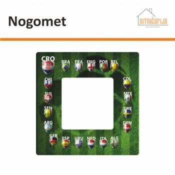 Naljepnice za utičnice i prekidače - Nogomet; naljepnica u obliku nogometnog terena s grbovima 20 zemalja