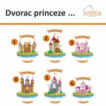 Naljepnice za vrata sa slikama 6 dvoraca ispod kojih se može upisati ime djeteta