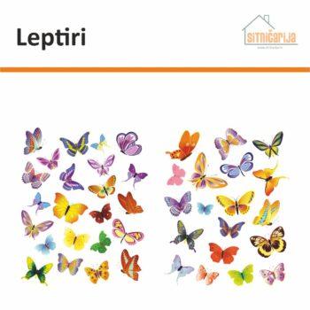 Set naljepnica za prozore koji se sastoji od 42 leptira u različitim bojama