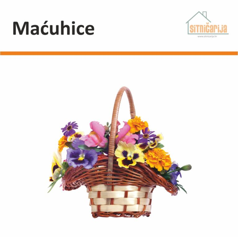 Naljepnica za prozore - Maćuhice u obliku košare ljetnog cvijeća s maćuhicama u prvom planu