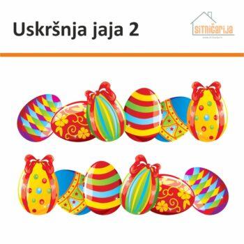 Naljepnice za blagdane - Uskršnja jaja 2; set od 2 niza uskršnjih jaja jarkih boja