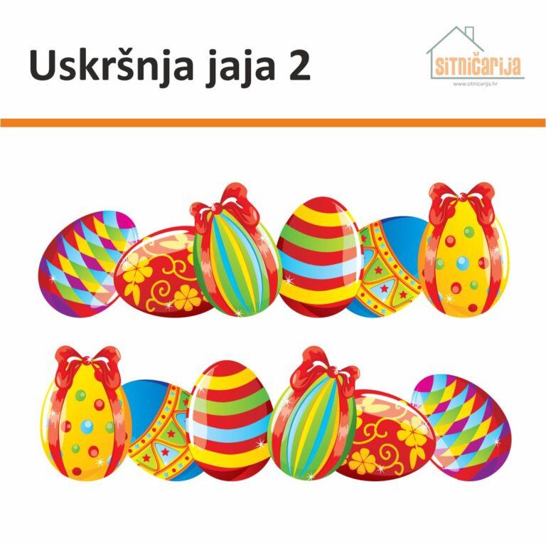 Naljepnice za blagdane - Uskršnja jaja 2; set od 2 niza šarenih uskršnjih jaja jarkih boja